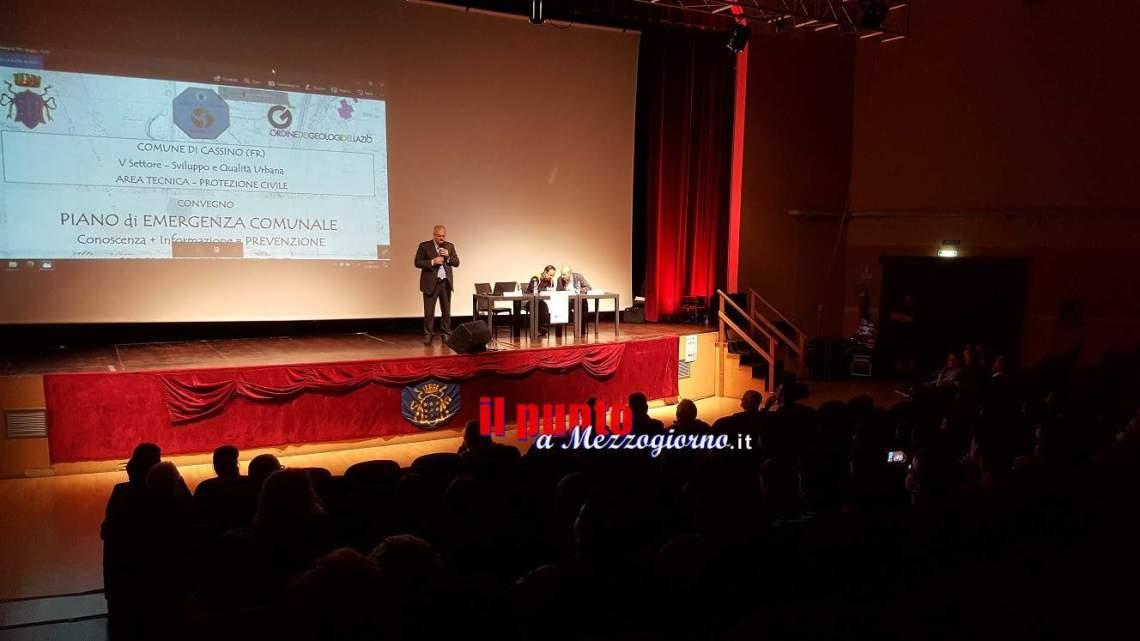 Presentato oggi, al teatro Manzoni, il Piano Emergenza del comune di Cassino