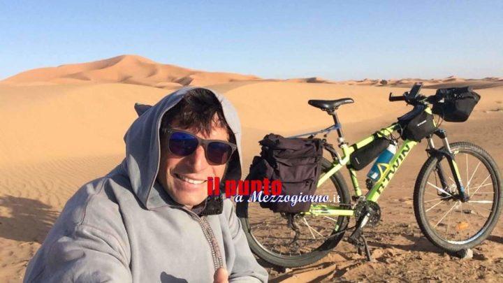 Un Cassinate in bicicletta nel deserto del Sahara, Giuseppe ha realizzato il suo sogno (FOTO e VIDEO)