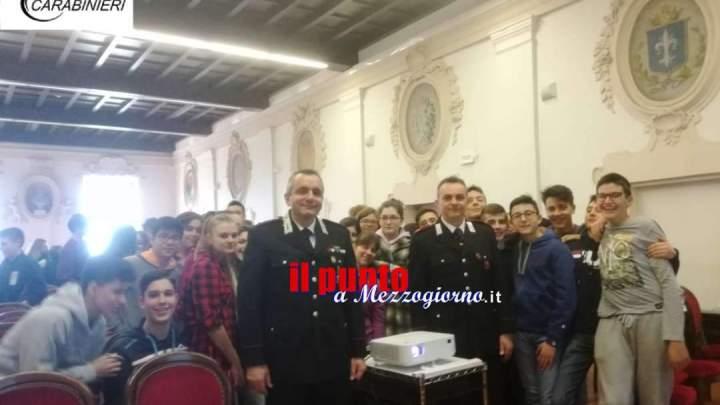 I carabinieri incontrano gli studenti del liceo scientifico e dell'Itc a Ferentino