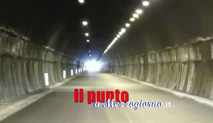 Riapre domani ad Atina la galleria sulla superstrada Cassino Sora