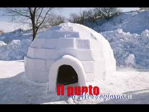 """A Prati di Mezzo nel """"Villaggio di ghiaccio"""" per imparare a fare gli igloo"""