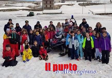 A scuola di sicurezza in montagna, carabinieri incontrano i bambini di Filettino e Serrone