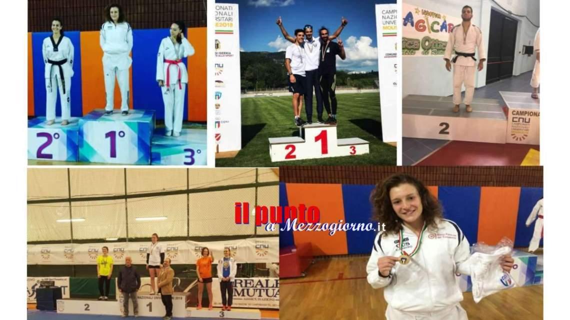 Pioggia di medaglie per gli atleti del CUS-Cassino ai Campionati Nazionali Universitari