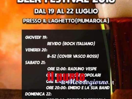 Da stasera con i ragazzi della Combriccola è Beer Festival a Piumarola (Villa Santa Lucia)
