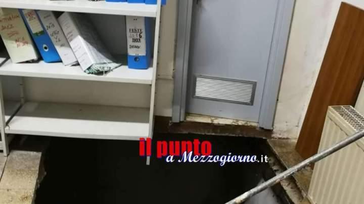 Crolla porzione di pavimento nel Comune di Boville Ernica