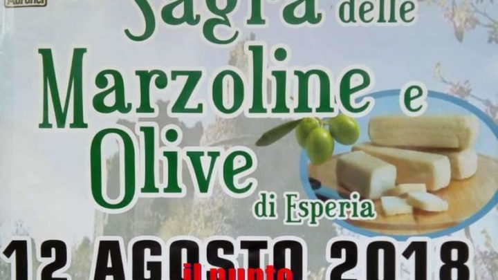 Estate, via alla 35° edizione della Sagra della Marzoline e Olive di Esperia