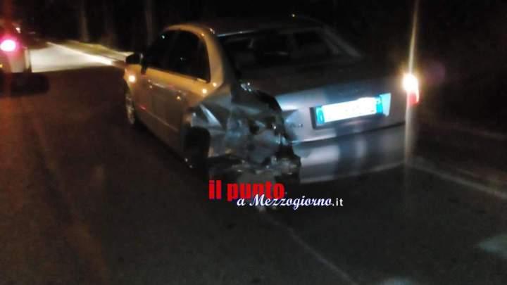Tamponamento sul dosso di viale S. D'Acquisto a Velletri, giovane ferito