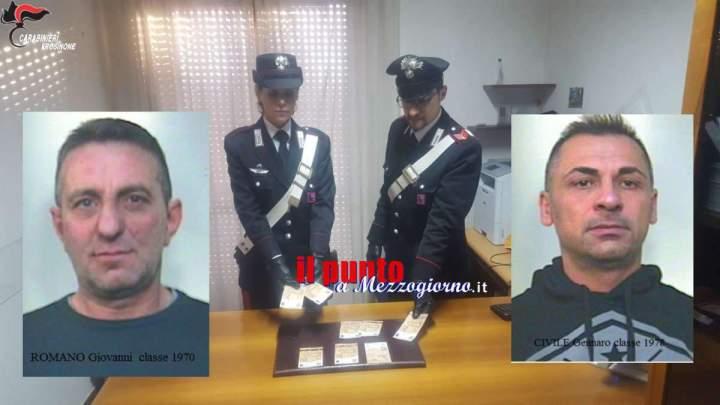 Falsari a Cassino, romano e napoletano arrestati: compravano sigarette con banconote false