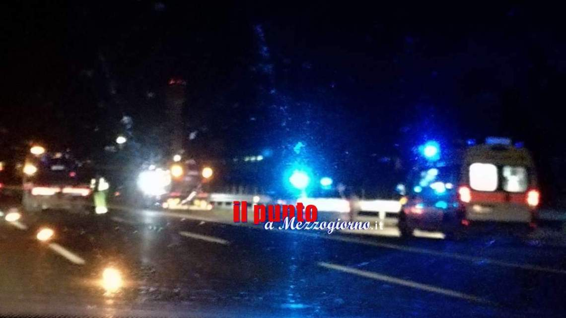 Incidente stradale sull'A1 tra Frosinone e Ferentino, due feriti