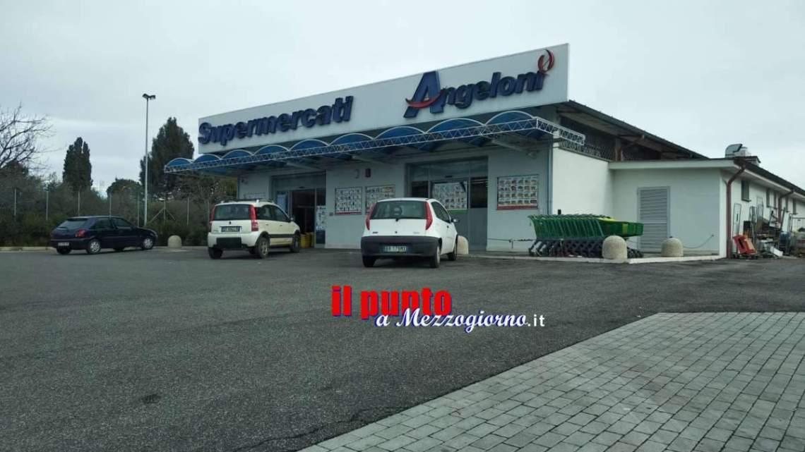 Rapina a mano armata al supermercato Angeloni di Velletri, caccia al malvivente