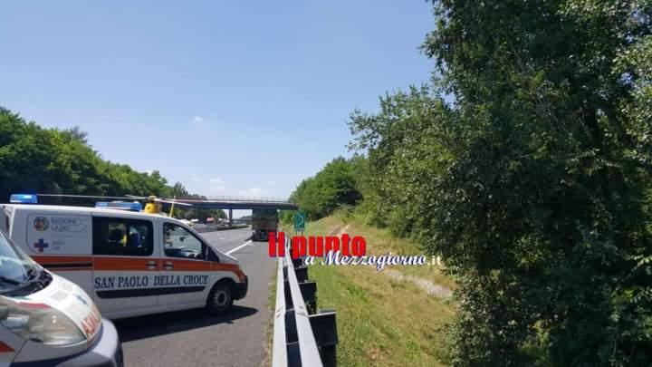 Incidente in autostrada tra Cassino e Pontecorvo. Un ferito grave
