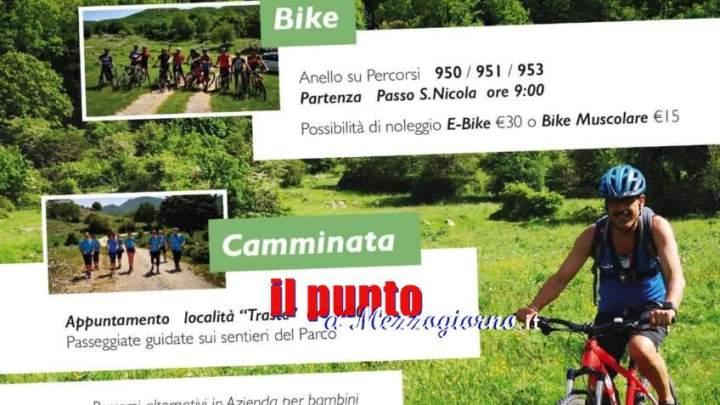 """Enotrek e bike tra i Monti Aurunci durante la domenica """"plastic free"""""""