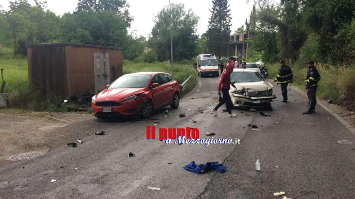 Cassino, grave incidente a Sant'Angelo. Intervento dell 'eliambulanza