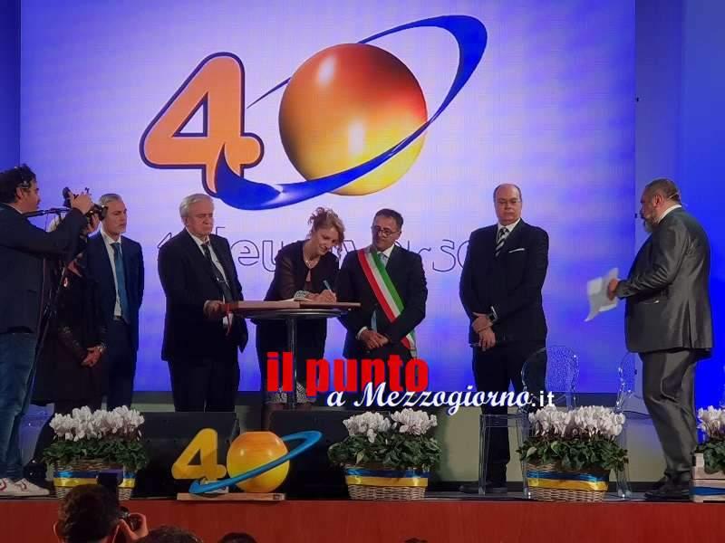 Aquino, Teleuniverso festeggia i 40 anni  con la 'Benemerenza civica' dell'Amministrazione comunale