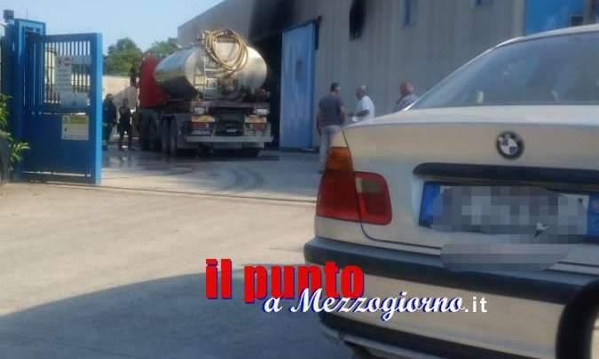 Castelnuovo Parano, incendio in una fabbrica di barche