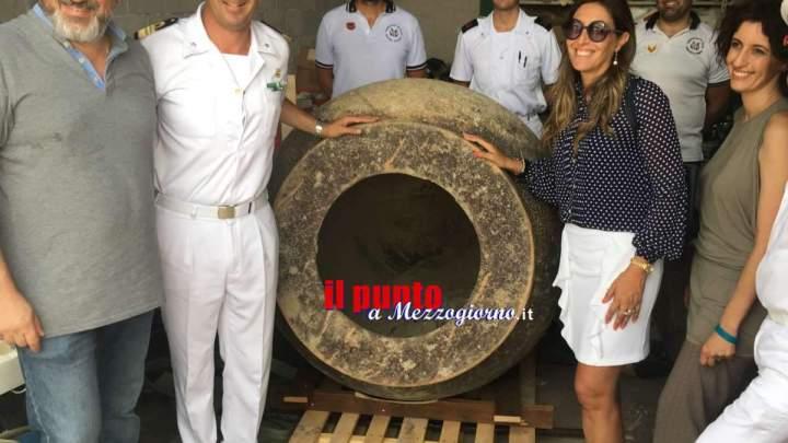 Consegnate a Gaeta le due millenarie anfore Dolia ripescate al largo di punta Stendardo