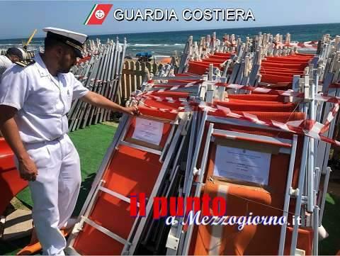 Guardia Costiera di Gaeta: contrasto all'occupazione abusiva delle spiagge. Sequestri, denunce e sanzioni