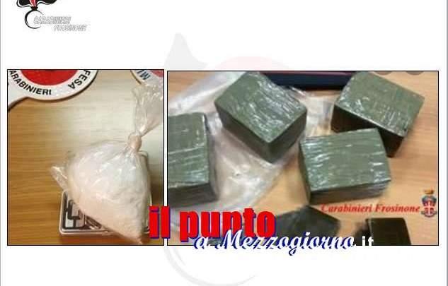 """Frosinone; """"Operazione Bazar"""" dei Carabinieri, una decina di arresti e sequestro di hashish e cocaina"""