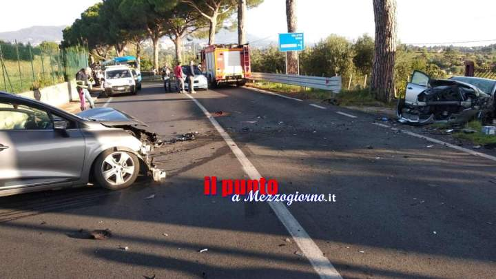 VIDEO e FOTO – Incidente stradale a Velletri, mamma in gravi condizioni