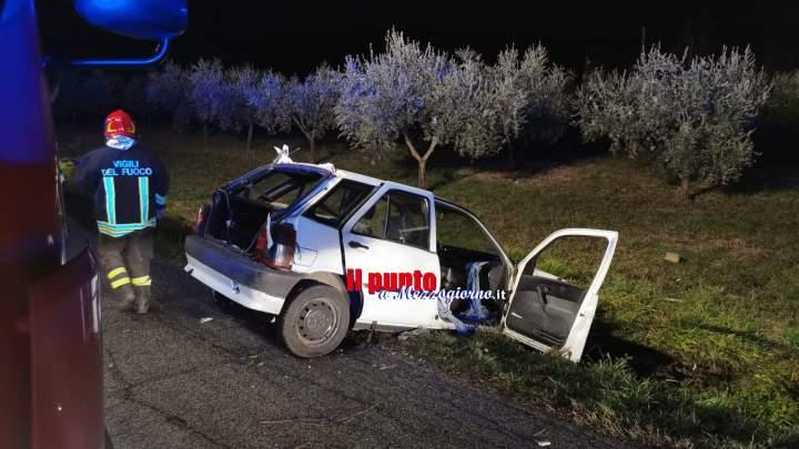 Esce di strada a Cassino, ferito 66 enne