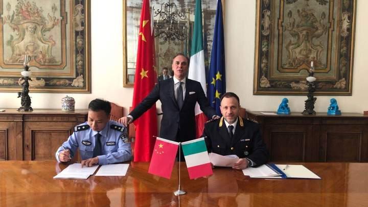 Il ministero di pubblica sicurezza cinese dona 55mila mascherine alle forze dell'ordine italiane