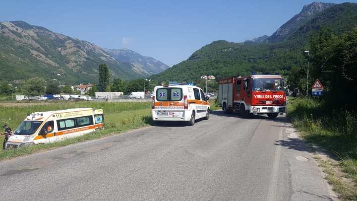 Sant'Elia Fiumerapido – Incidente stradale all'Olivella, ferito un 60enne