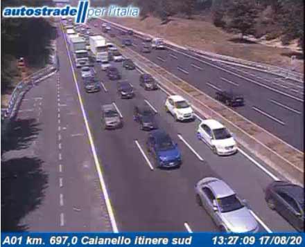 Incidente in A1, riaperto il tratto tra Cassino e Caianello