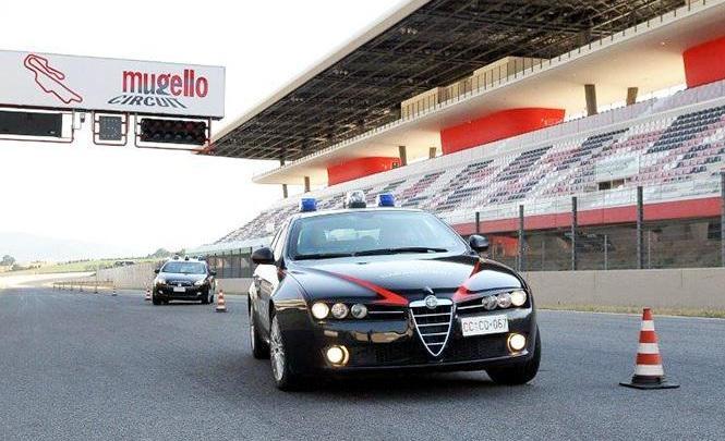 All'Autodromo del Mugello il nuovo corso di guida sicura di emergenza dei Carabinieri