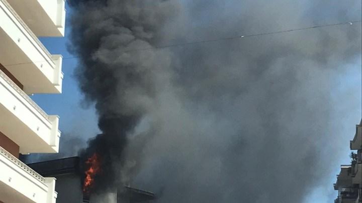 Appartamento al terzo piano in fiamme a Venafro