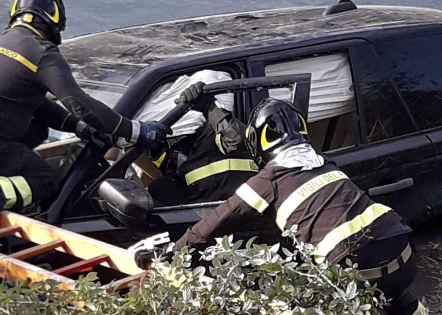 Incidente sull'Appia a Pontinia, due auto incidente