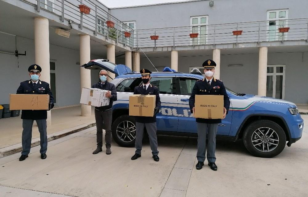 Frosinone – La Polizia di Stato devolve merce confiscata a sostegno dei più bisognosi