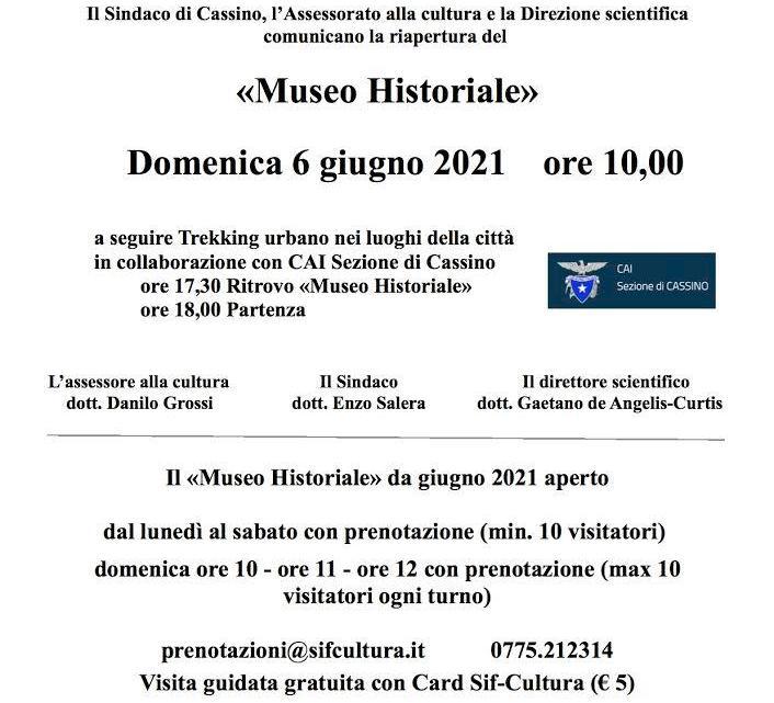 Cassino Restart, domenica 6 giugno riapre il museo historiale