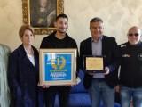 Cassino – Il neo campione di motociclismo Armando Pontone ricevuto in Comune