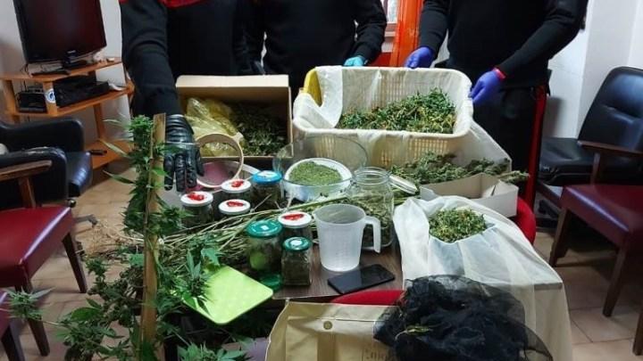 Gallinaro – Sequestrato oltre un chilo di marijuana, arrestato 38enne
