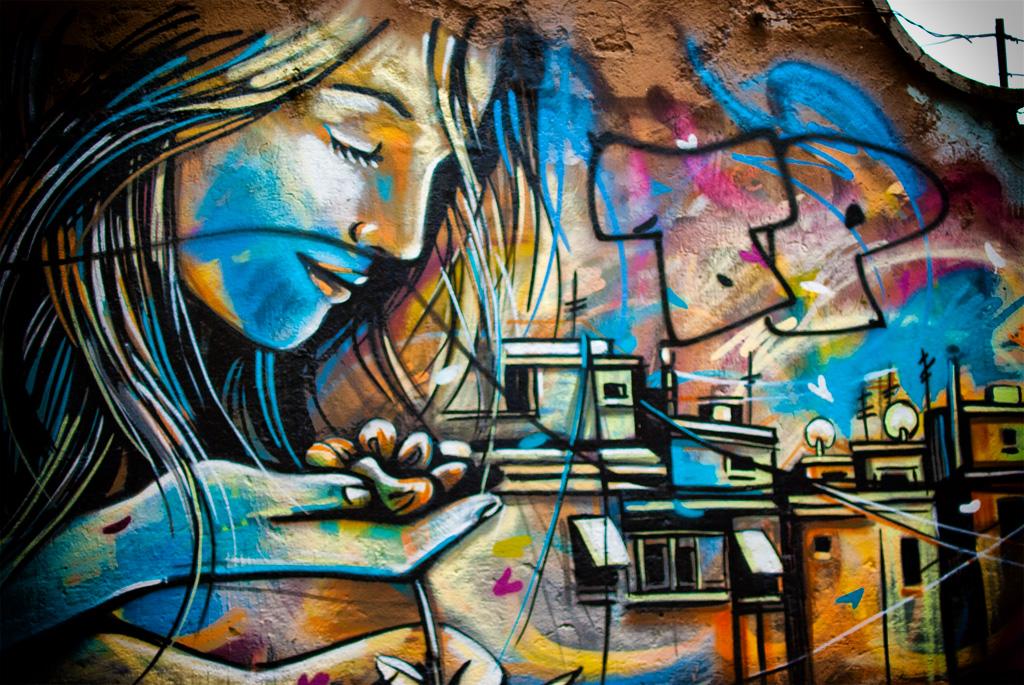 La street art di Alice Pasquini a Roma