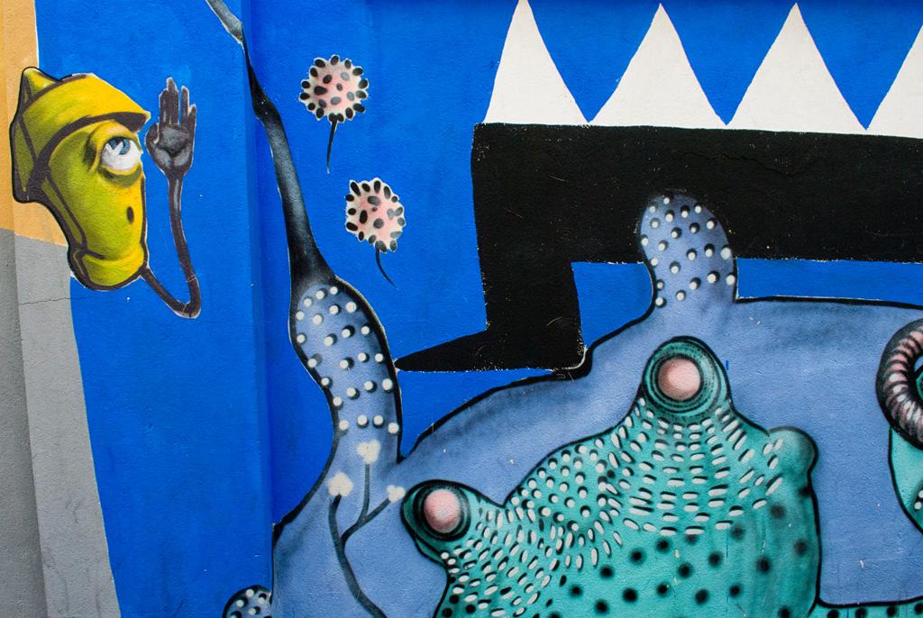 La street art di a Milano quartiere Isola