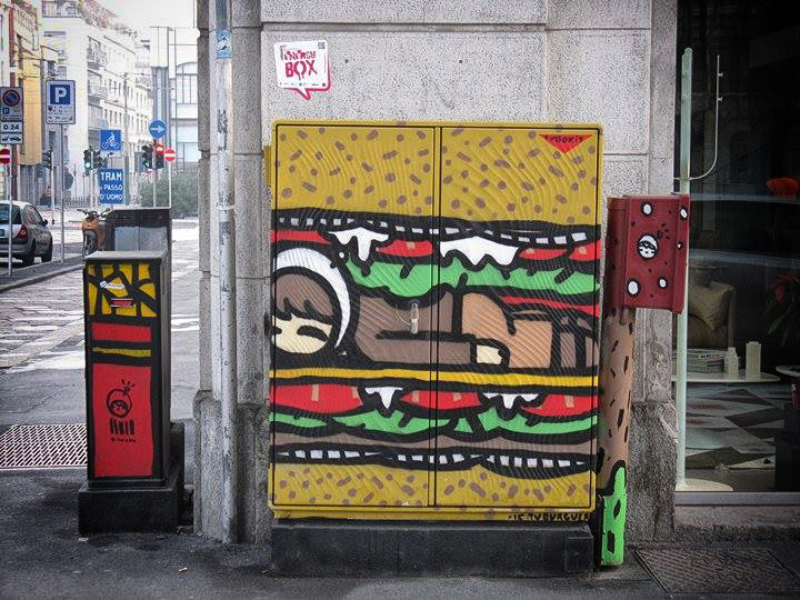 Energy Box a Milano: Tvboy in via Rivoli Photo by Atomo1987