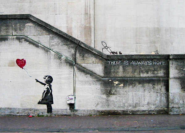Bansky - There is always hope