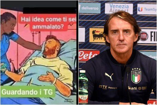 Roberto Mancini e la vignetta negazionista sul Coronavirus, per il Ct della  Nazionale ci si ammala guardando troppi Tg - Il Riformista