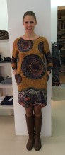 Kleid gemustert gelb