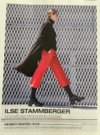 Ilse Stammberger Miriam Langenbach Kollektion rote Hose schwarzer Mantel