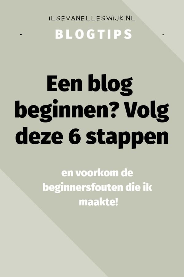 blog beginnen : starten: volg deze 6 stappen en voorkom beginnersfouten bloggen