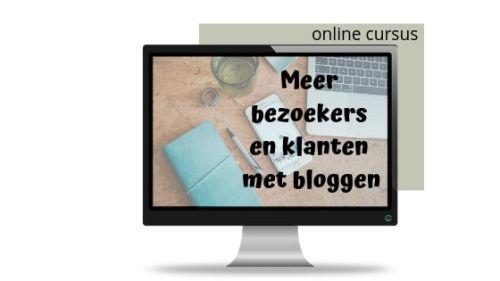 online cursus meer bezoekers en klanten met bloggen