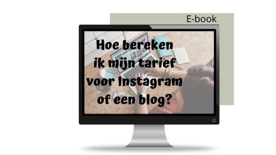 tarief berekenen blog instagram