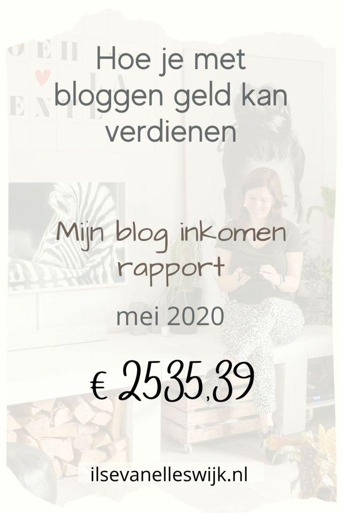 overzicht geld verdienen met bloggen