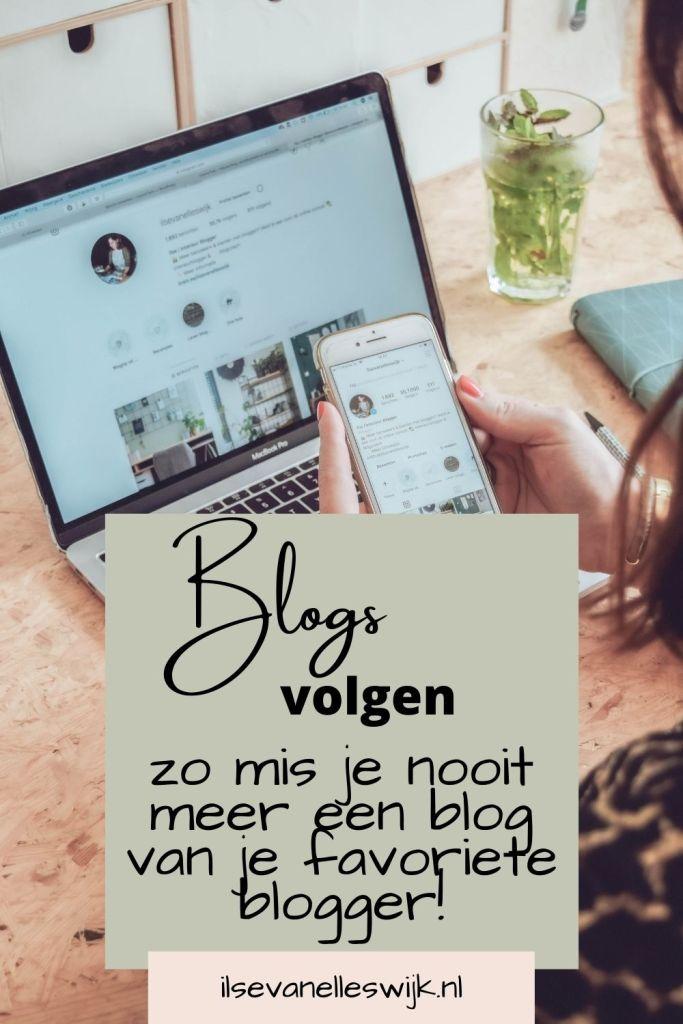favoriete bloggers volgen