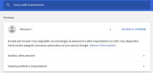 Come esportare e importare password Chrome