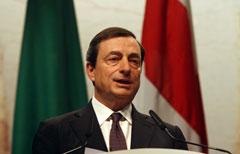 Il Governatore della Banca d'Italia, Mario Draghi (ANSA/VINCE PAOLO GERACE/DC)