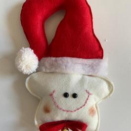 Stellina con cappello natalizia
