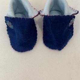 Scarpine blu e celesti 0-3 mesi